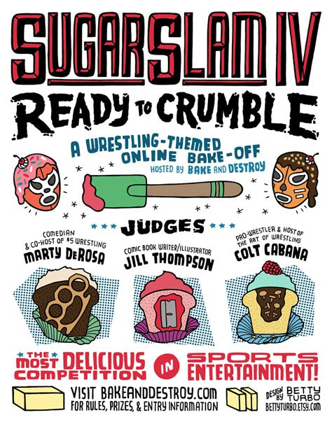 sugarslam iv ready  crumble official rules bake