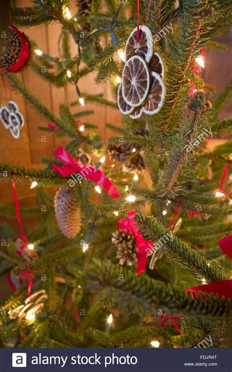 traditional victorian christmas decorations  stock