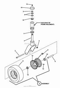 Snapper Hzt21480bv  82533  48 U0026quot  21 Hp Ztr Twin Stick Series 0 Parts Diagram For Caster Wheel Assembly