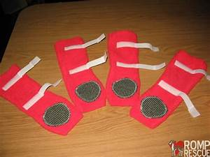 diy fleece dog boots diy do it your self With how to make dog shoes