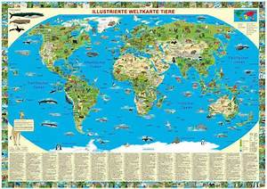 Weltkarte Poster Kinder : weltkarte der tiere gro e auswahl weltkarten im ~ Yasmunasinghe.com Haus und Dekorationen