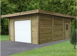 Garage En Bois 20m2 : garage bois garages kit panneaux ou madriers promo ~ Dailycaller-alerts.com Idées de Décoration