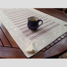 Table Runner Kitchen Table Linen French Table Runner Cotton