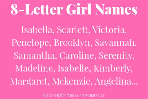 letter girl names nancys baby names