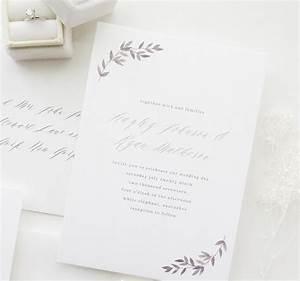 Invitation sample hayley simple wedding invitation for Modern wedding invitations free samples