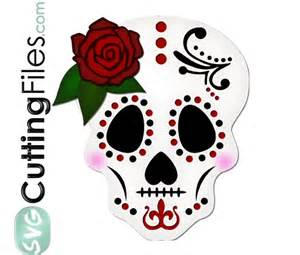 Sugar Skull SVG Cut Files Free