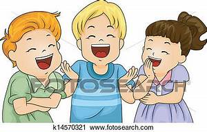 Clipart of Little Kids Laughing k14570321 - Search Clip ...