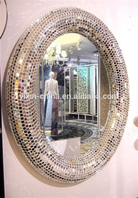 2015 round or oval silver decorative wall framed glass