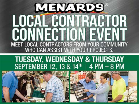 menards hosts local contractor connection event wowo