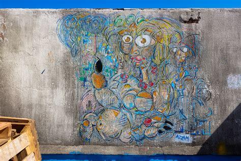 marrakech l streetart ausstelling lmdena kollektiv in l blassa