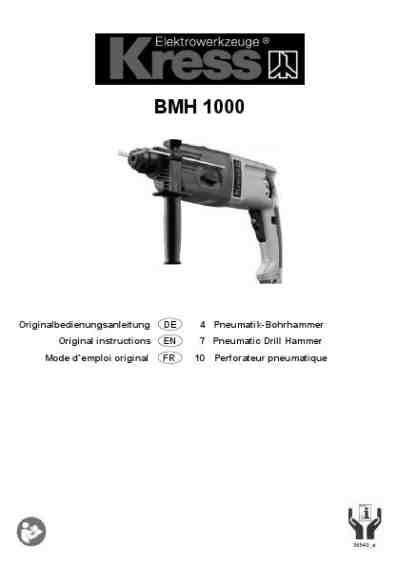 KRESS 1000 BMH Tools download manual for free now - 40111