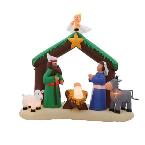 home accents holiday 7 ft inflatable nativity scene 36707