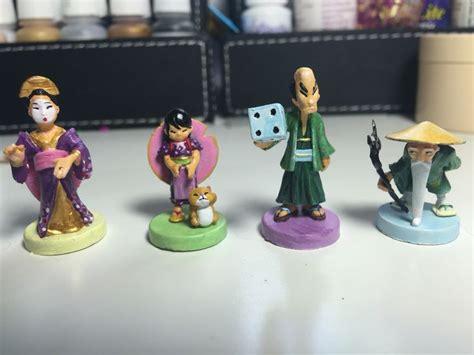 figures  tokaido painted  chantal noordeloos chantis painted board game minis