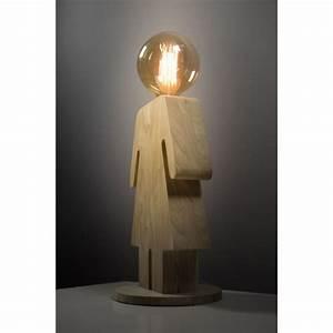 Lampe A Poser : lampe poser en bois eve xl ~ Nature-et-papiers.com Idées de Décoration