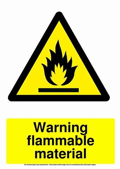 Flammable Sign Material Warning Signs Printable Hazard