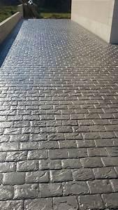 realisation d39une allee en beton imprime decoratif With realisation d une terrasse en beton