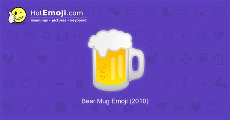 Beer Emoji Meaning With Pictures