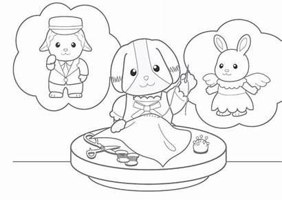 Coloring Calico Critters Pages Rudolph Preschooler