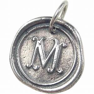 vintage sterling silver letter m pendant charm from With sterling silver letter m pendant