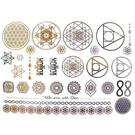Tatouages éphémères Doré Et Argent Mandala Et Fleur De Vie
