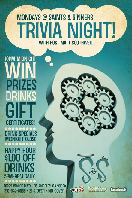 trivia night flyer templates quiz night flyer template free images