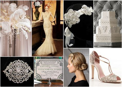 roaring 20 s deco wedding inspiration bridal styles