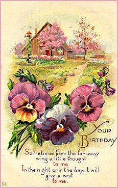 victorian birthday cards  images vintage postcards