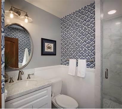 Bathroom Coastal Gray Wave Decor Decoration