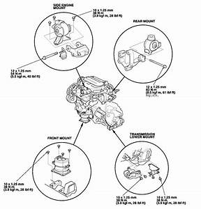 Honda Civic Engine Mounts Diagram