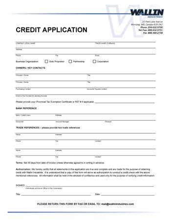 printable credit reference form form generic
