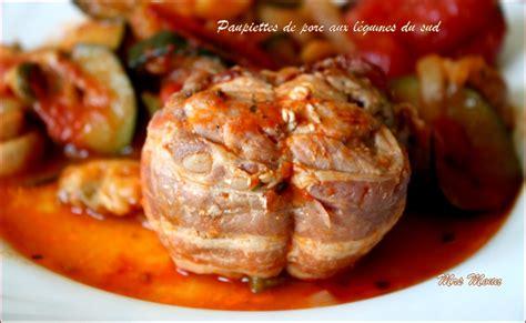 cuisiner des paupiettes de porc paupiettes de porc aux l 233 gumes du sud la serviette autour du cou