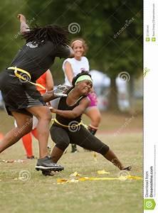 Women Practice In Flag Football League Editorial Stock ...