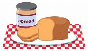 Bread and Peanut Butter Spread - Download Free Vector Art ...