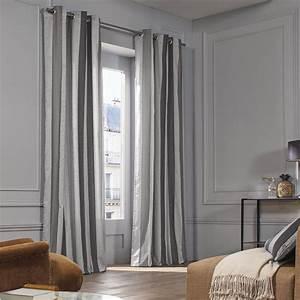 Rideau A Oeillet : rideau oeillets bellagio gris madura ~ Dallasstarsshop.com Idées de Décoration