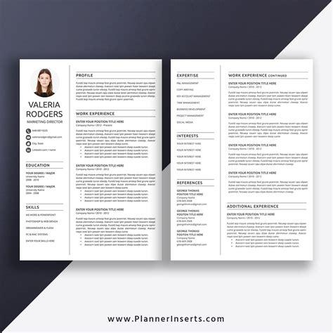 Think of the curriculum vitae (cv) as an academic resume: Professional CV Template Word, Curriculum Vitae, Simple CV ...