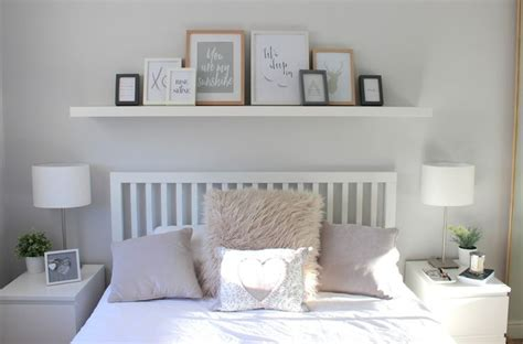 25 best ideas about shelf above bed on pinterest grey
