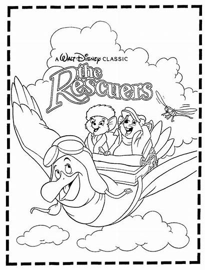 Rescuers Coloring Pages Disney Under Down Contest
