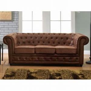 Maison Du Monde Chesterfield : 109 offres canape marron cuir vieilli comparez avant d ~ Teatrodelosmanantiales.com Idées de Décoration