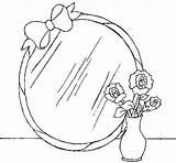 Mirror Coloring Pages Colorear Coloringcrew sketch template