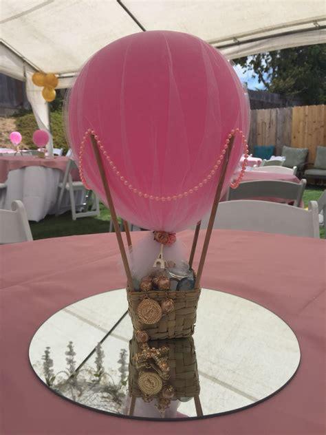 Hot Air Balloon Centerpiece Party Diy In 2019 Balloon