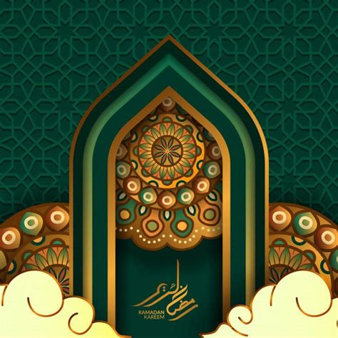 islamic event greeting card template   greeting