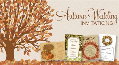autumn wedding invitations autumn wedding invitations