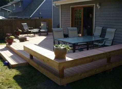 25 best ideas about ground level deck on