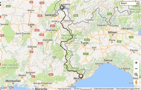 Route Des Grandes Alpes Karte