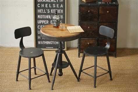 loft style furniture wrought iron wood coffee