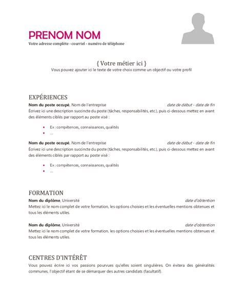 Comment Faire Un Cv Exemple Gratuit by Exemple De Cv Emploi Modele De Cv 233 Tudiant Simple Psco