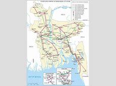 방글라데시 전력관련 지도
