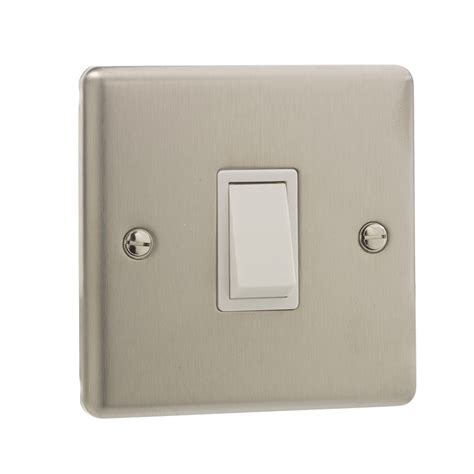 british general stainless steel single 1 gang light switch
