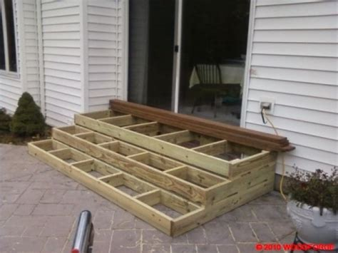 wooden patio steps porch stairs patio stairs patio