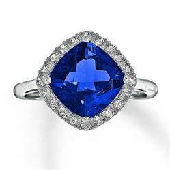 lab created sapphire engagement rings jared lab created sapphire ring cushion cut 10k white gold